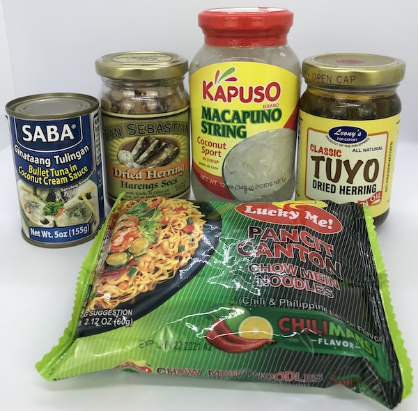 Recently Added: SABA Ginataang Tulingan, San Sebastian Dried Herring (Tuyo), Leony's Dried Herring (Tuyo), Lucky Me Pancit Canton Chilimansi, Kapuso Macapuno String Small