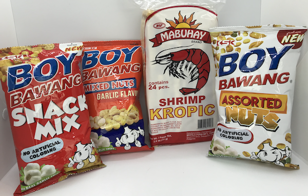 Recent Addition: Mabuhay Shrimp Kropic, Boy Bawang Assorted Nuts, Boy Bawang Snack Mix, Boy Bawang Mixed Nuts Garlic Flavor