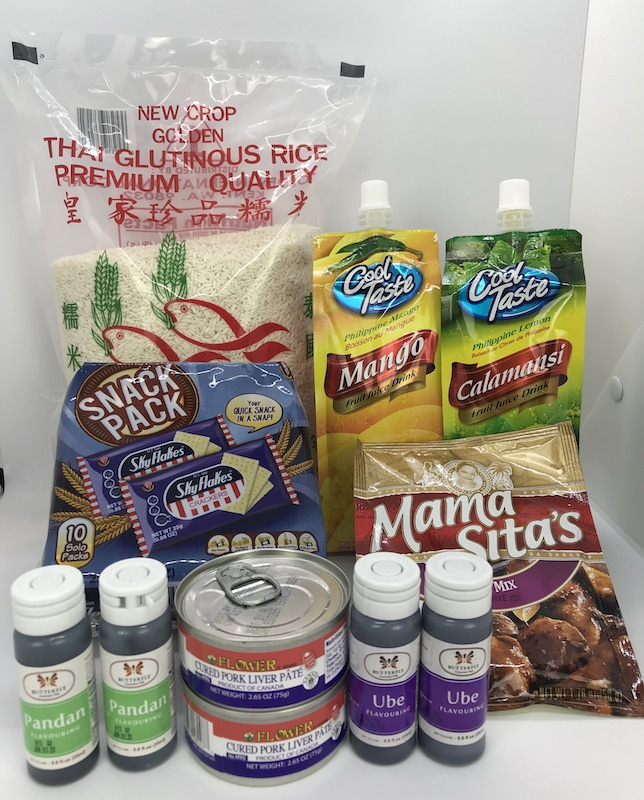 Recently Added: Liver Spread, Adobo Mix, Pandan & Ube Flavoring, SkyFlakes Crackers, Sticky Rice (Malagkit), Mango & Calamansi Juice