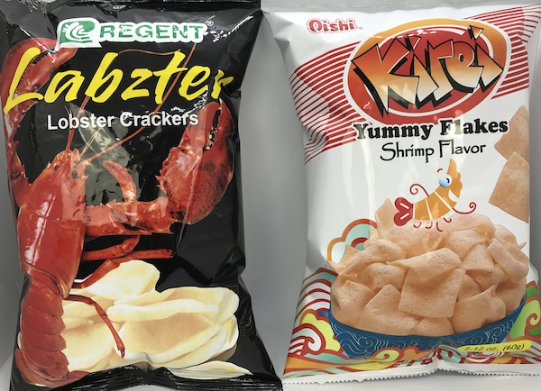 Labzter Lobster Crackers, Kirei Flakes Shrimp