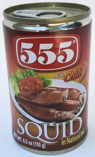 555 Canned Squid in Natural Ink