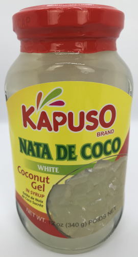 Kapuso Nata de Coco, White in syrup (Coconut Gel)