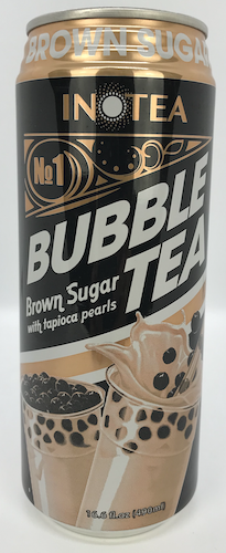 InoTea Bubble Tea Brown Sugar with Tapioca Pearls