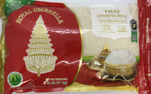 Royal Umbrella Thai Jasmine Rice (5 lbs)