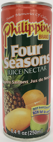 Philippine Brand Four Seasons Juice (Mango, Guava, Pineapple, Orange)